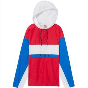 Pink Red White and Blue Windbreaker